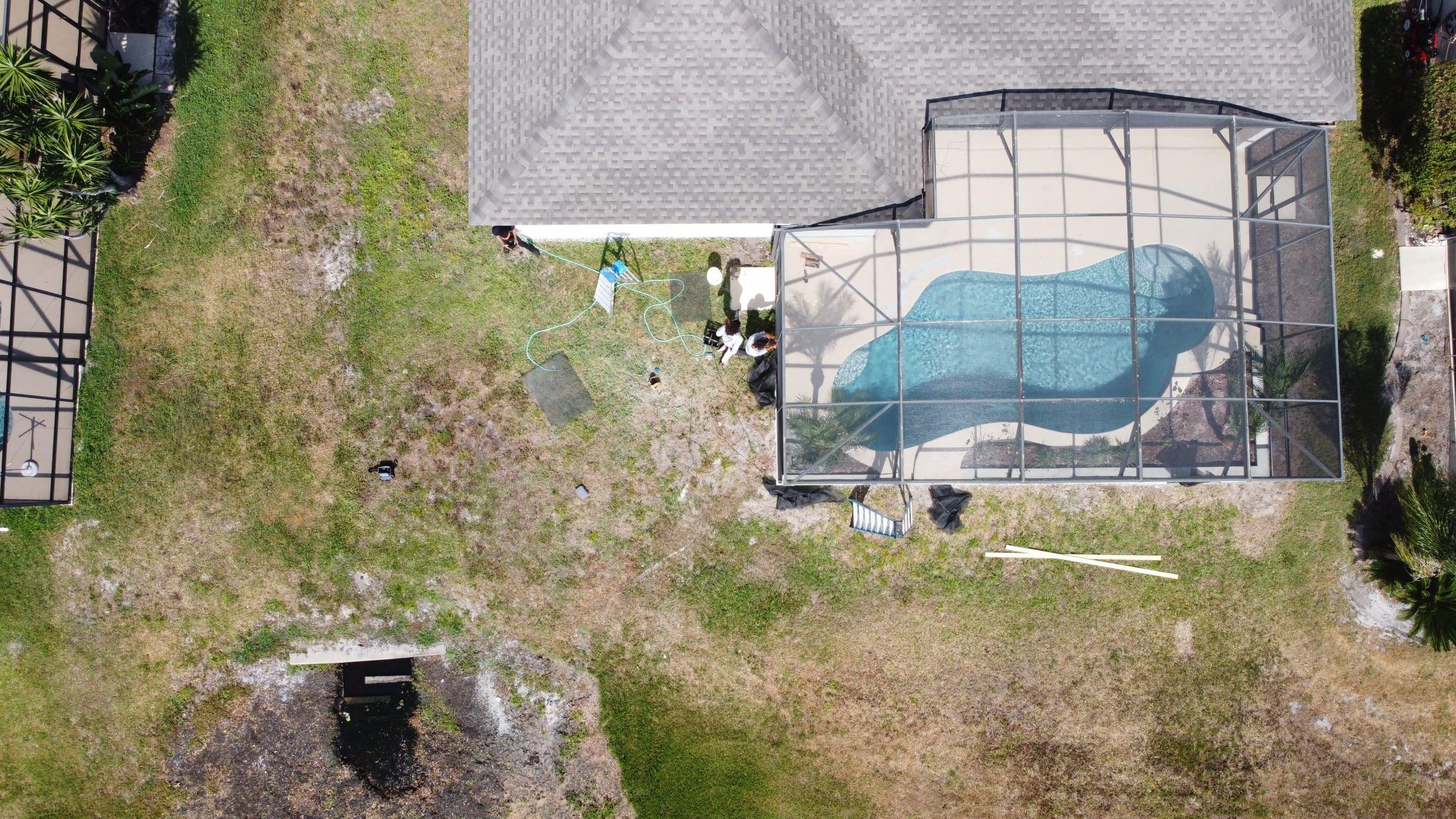 pool patio gutters